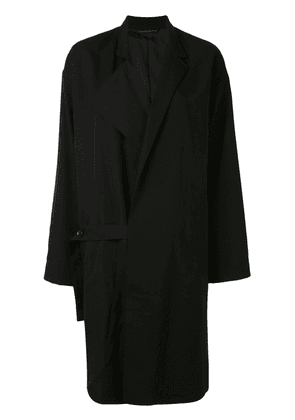Y's oversized trench coat - Black