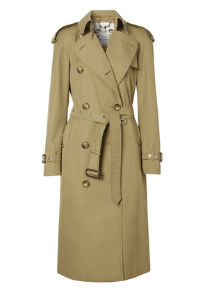Burberry Animalia print-lined gabardine trench coat - NEUTRALS