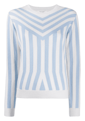 Chinti and Parker optical stripe jumper - Blue