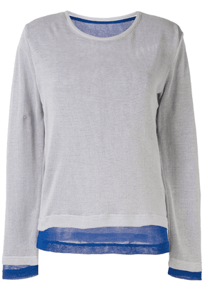 Y's sheer double-layered jumper - Grey
