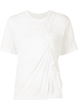 Y's ruched detail T-shirt - White