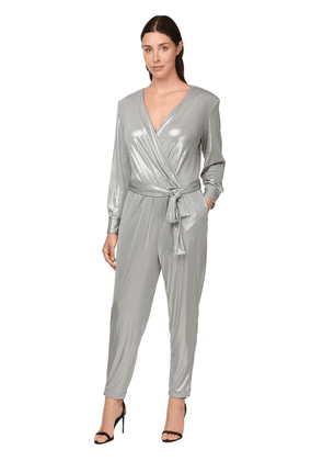 Waxed Jersey Belted Jumpsuit