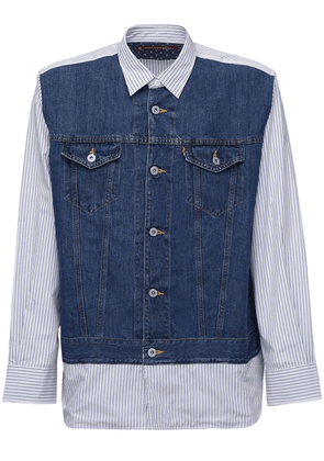 Levi's Striped Denim & Linen Shirt