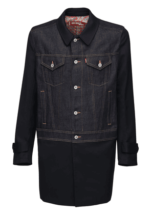 Levi's Cotton Blend Denim Gabardine Coat