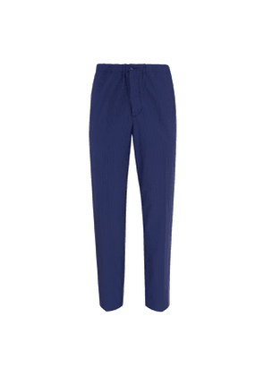 Blue and Navy Striped Virgin Wool Trousers