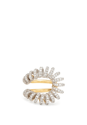 Ana Khouri - Maia Diamond & 18kt Gold And White-gold Ring - Womens - Crystal