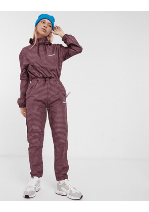 Carhartt WIP relaxed joggers in check co-ord-Red