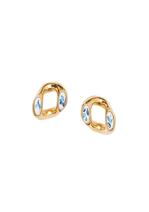 Burberry porcelain detail chain-link earrings - GOLD