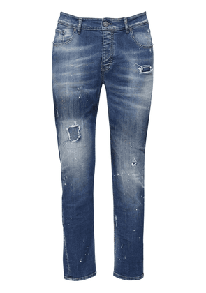 Barret Distressed Cotton Denim Jeans