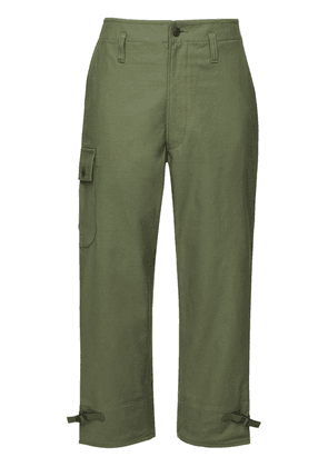 Cotton Satin Cargo Pants
