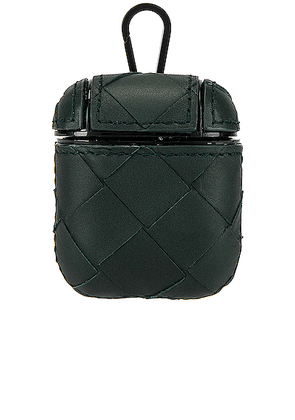 Bottega Veneta Airpod Case in Pine Green & Nero - Green. Size all.