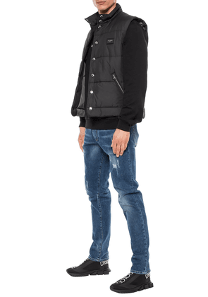 Dolce & Gabbana Quilted Vest With A Logo Men's Multicolor