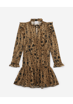 The Kooples - Short printed frilly dress - WOMEN