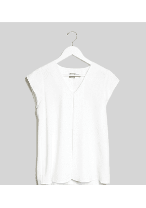 ASOS DESIGN Maternity v neck origami blouse in white