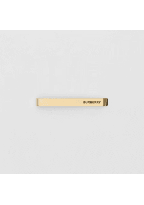 Burberry Engraved Gold-plated Tie Bar, Yellow