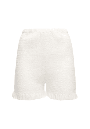Italia Smocked Georgette Shorts
