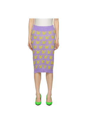 Ashley Williams Purple and Yellow Mohair Peace Skirt