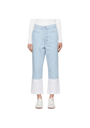 Loewe Blue Embroidered Fisherman Jeans