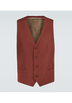 Formal wool-blend waistcoat