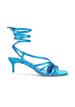 ATTICO Kitten Heel Sandal in Turquoise - Blue. Size 36 (also in 38,40,41).