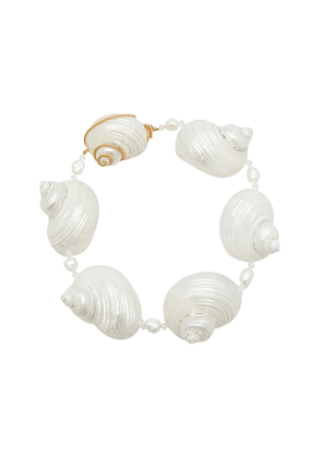 Prada Sterling Silver Shell Necklace