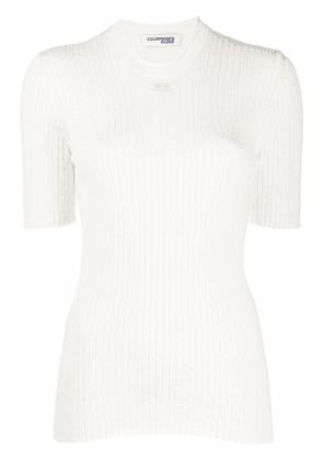 Courrèges ribbed crew neck T-Shirt - White