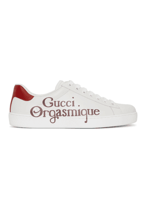 Gucci White Gucci Orgasmique New Ace Sneakers