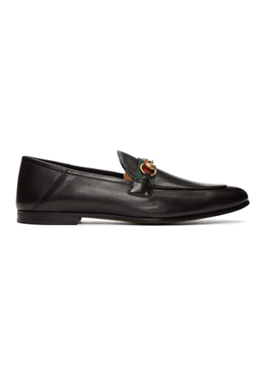 Gucci Black Web Horsebit Loafers