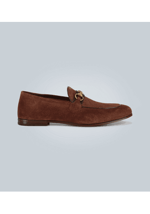 Suede horsebit loafers with Web
