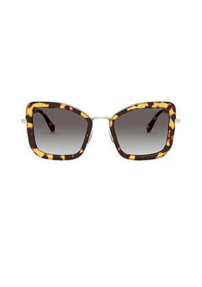 Miu Miu Harmonie Squared Cat Eye in Brown.