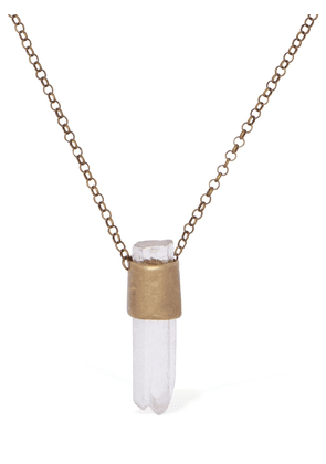 Long Necklace W/ Hyaline Quartz Charm