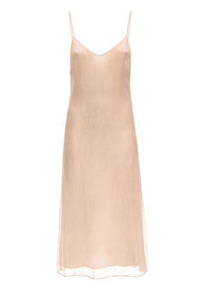 Shan Crinkled Silk Chiffon Dress