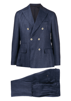Eleventy double-breasted two piece suit - Blue