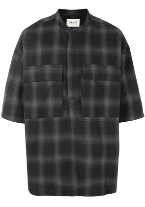 Fear Of God checked oversized shirt - Black