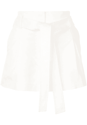 3.1 Phillip Lim belted high waist shorts - White
