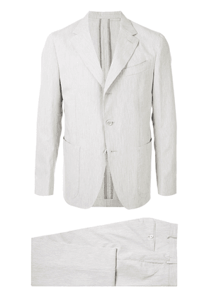 Caruso pinstripe two piece suit - Grey