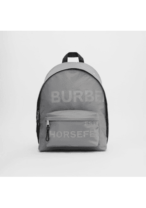 Burberry Horseferry Print ECONYL Backpack, Grey