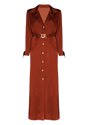 Dodo Bar Or belted button-up maxi dress - Red