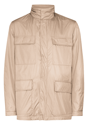 Canali hooded jacket - NEUTRALS