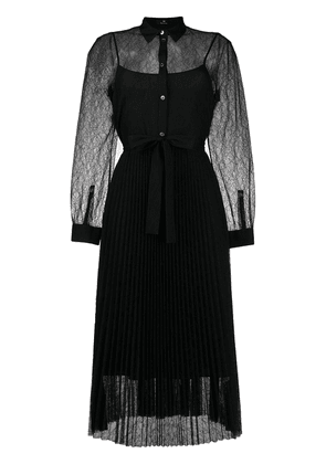 PS Paul Smith lace pleated dress - Black