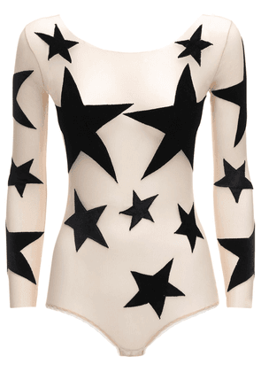 Star Patches Tulle Bodysuit