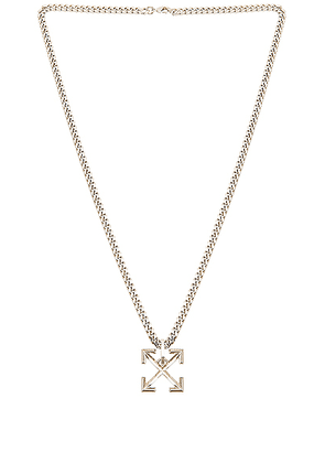 OFF-WHITE Arrow Necklace in Silver - Metallic. Size all.