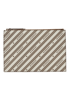 Givenchy Beige and Brown Medium Bond Pouch