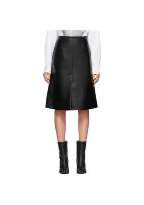Maison Margiela Black Faux-Leather Skirt
