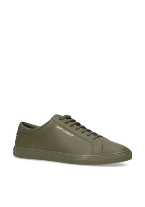 Saint Laurent Leather Andy Sneakers