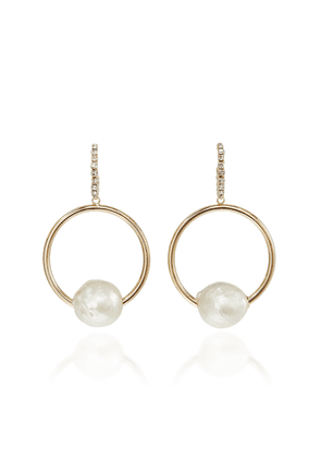 Dannijo Watts 10k Gold-Plated Brass, Pearl and Glass Crystal Earrings