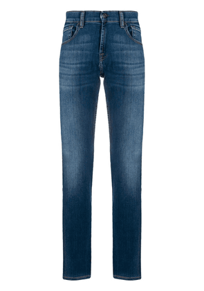7 For All Mankind Slimmy Tapered mid-rise jeans - Blue