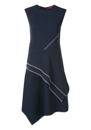 Sies Marjan contrast stitching draped dress - Blue