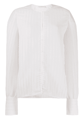 The Row vertical pleat blouse - White