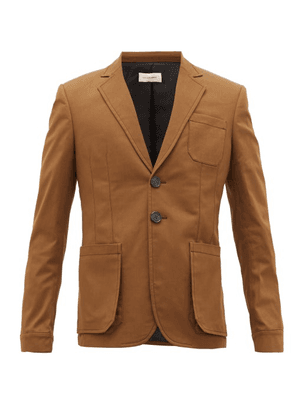 Wales Bonner - Diego Patch-pocket Cotton-blend Twill Jacket - Mens - Brown